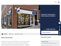 Hamptons International Estate and Letting Agents Guildford website screenshot