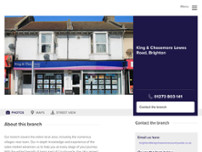 King & Chasemore Estate Agents Brighton website screenshot