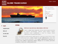 Globe Trans Cargo Kft. website screenshot