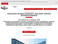 Budapest, MillPark Centre website screenshot