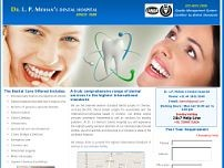 L P Mohan Dental Hospital website screenshot