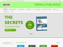 Emerald Publishers website screenshot
