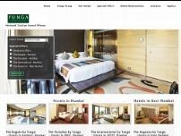 Hotel Tunga International website screenshot