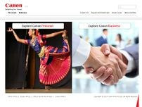 Canon India P Ltd website screenshot