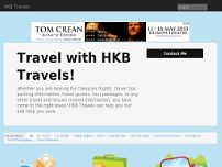 H K B Tours & Travels website screenshot