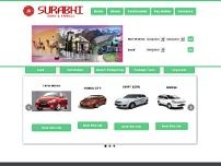 Surabhi Tours & Travels website screenshot