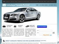 Suhalaya Travels Pvt Ltd website screenshot