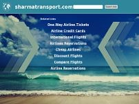 Sharma Transports website screenshot