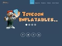 toycoon inflatables website screenshot