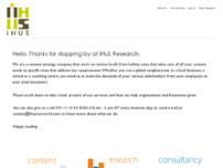 IHuS Research website screenshot