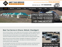 Amit Taxi Service Kharar website screenshot