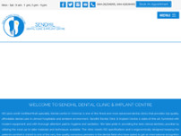 Sendhil dental clinic and Implant Centre website screenshot