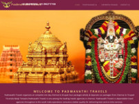 PADMAVATHI TRAVELS website screenshot
