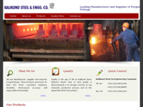 Kalikund Steel Forged website screenshot