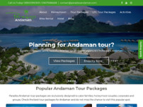 Paradiso Andaman website screenshot