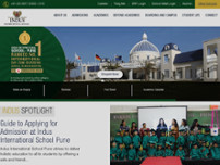 Top International Boarding School in Pune – Indus International website screenshot