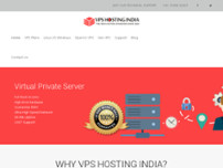VPS Hosting India website screenshot