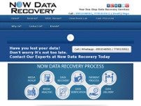 Now Data Recovery website screenshot