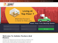 Sehdev Packers & Movers website screenshot