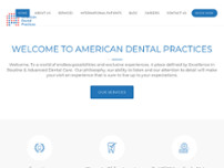 American Dental Practices website screenshot
