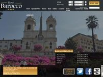 Hotel Barocco website screenshot