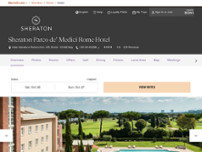 Sheraton Parco de' Medici Rome Hotel website screenshot