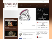 Angarano Gioiellieri website screenshot