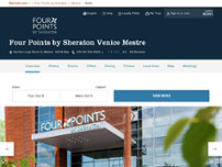 Four Points by Sheraton Venice Mestre website screenshot