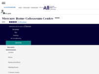Mercure Roma Centro Colosseo website screenshot