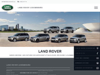 Land Rover Luxembourg website screenshot