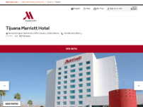 Tijuana Marriott Hotel website screenshot