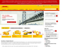 DHL Express Office 1 website screenshot