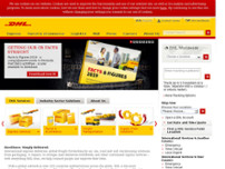 DHL Express Hub website screenshot