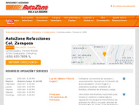 AutoZone Refacciones website screenshot