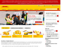 DHL Express ServicePoint website screenshot