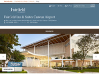 Fairfield Inn & Suites by Marriott Cancun Airport website screenshot