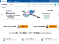 TELCEL AMORES website screenshot