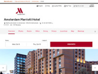 Amsterdam Marriott Hotel website screenshot
