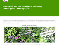 Aspergekwekerij Van Son website screenshot