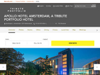 Apollo Hotel Amsterdam, a Tribute Portfolio Hotel website screenshot