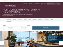 Residence Inn by Marriott Amsterdam Houthavens website screenshot