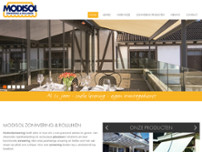 Modisol Zonwering & Rolluiken website screenshot