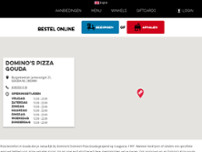 Domino's Pizza website screenshot