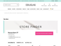 Parfumerie Douglas website screenshot