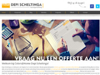 Colors@Home Depi Scheltinga Woninginrichting website screenshot