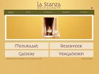 La Stanza Restaurant website screenshot