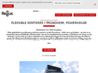 Regus - Trondheim, Powerhouse website screenshot