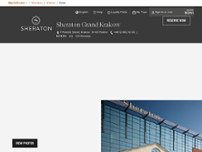 Sheraton Grand Krakow website screenshot