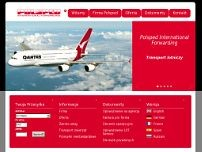 Polsped International Forwarding website screenshot