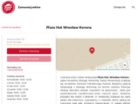Pizza Hut Wrocław Korona website screenshot